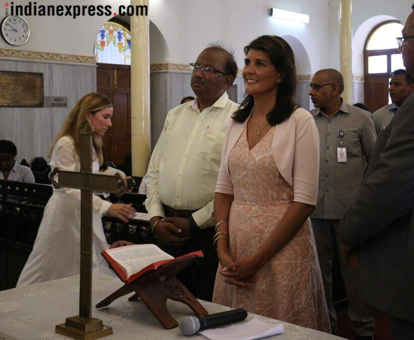 Nikki Haley visits Jama Masjid, makes rotis for 'langar