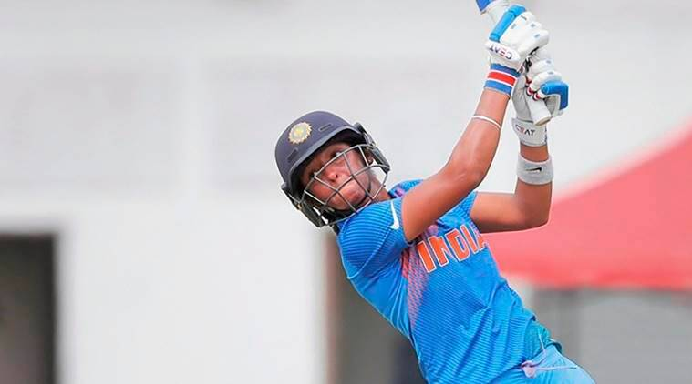 Indian cricketer Harmanpreet Kaur hits a boundary against Thailand during Asia Cup 2018, in Kuala Lumpur, Malaysia