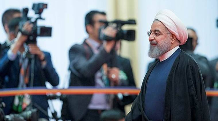 Iranian President Hassan Rouhani at the SCO Summit in Qingdao, China. (AP)
