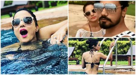Hina Khan Goa vacation bikini photos videos boyfriend Rocky Jaiswal