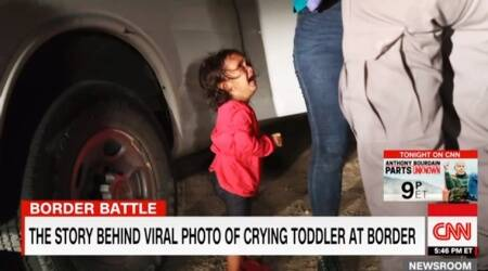 Here is why this photo of a 2-year-old crying is going viral