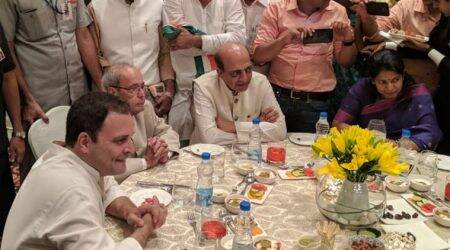 Rahul Gandhi hosts Iftar: Pratibha Patil, Pranab Mukherjee, Hamid Ansari inattendance