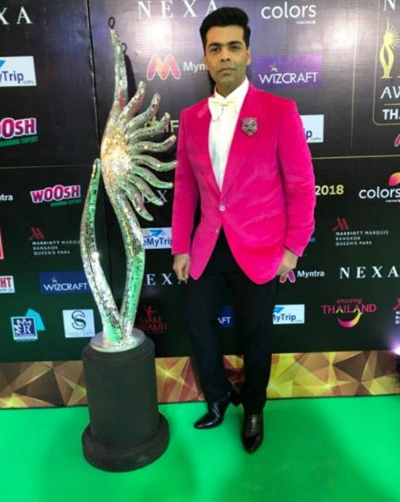 Karan Johar green carpet