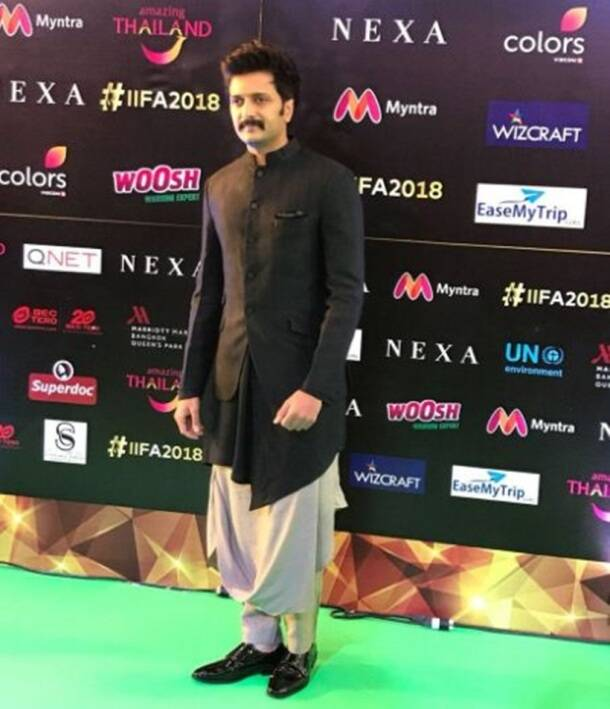 Riteish Deshmukh iifa green carpet
