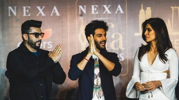 Kartik Aaryan, Arjun Kapoor and Kriti Sanon press conference