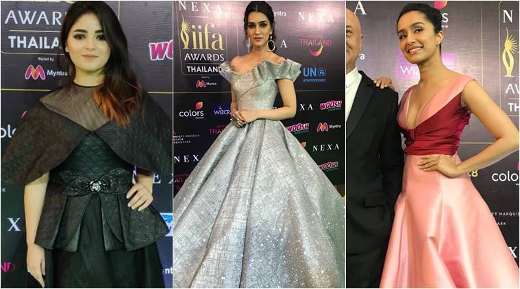 IIFA 2018 Day 3, IIFA fashion, Kriti Sanon, Kriti Sanon latest photos, Kriti Sanon fashion, Shraddha Kapoor, Shraddha Kapoor fashion, Zaira Wasim fashion, indian express, indian express news