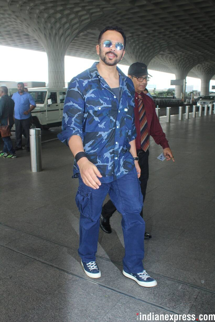 rohit shetty at airport