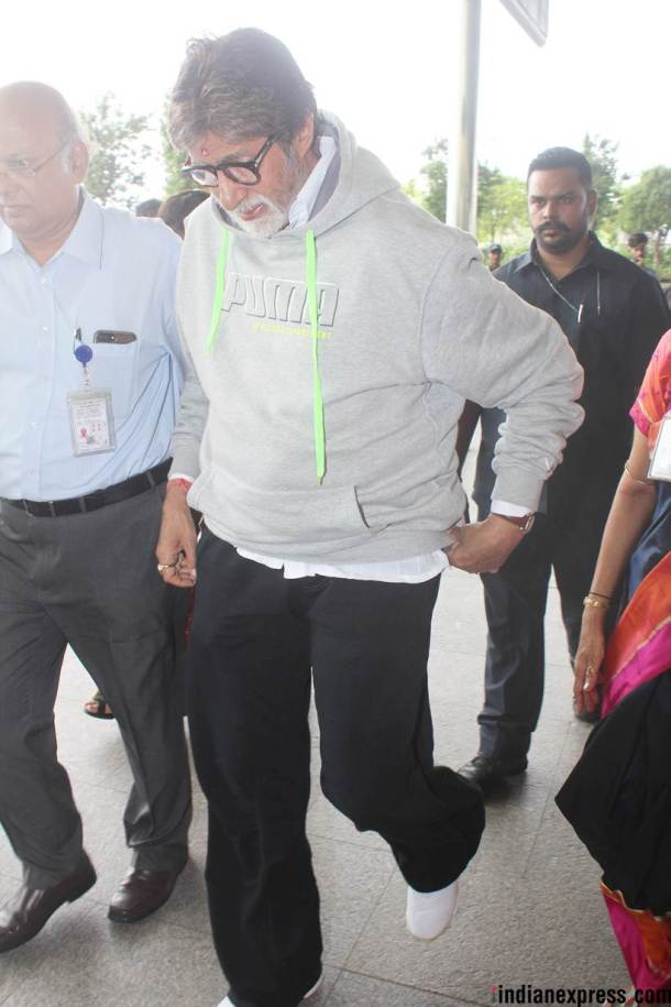 amitabh bachchan airport photo