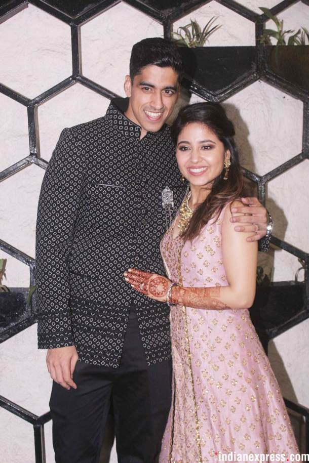 Shweta Tripathi and Chaitanya Sharma wedding party