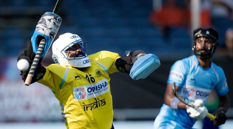 PR Sreejesh against Belgium in the Champions Trophy