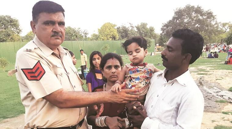 Officer jumps into pond at India Gate to rescue one-year-old