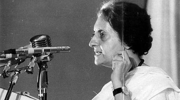 Former prime minister Indira Gandhi. (Express archive photo)