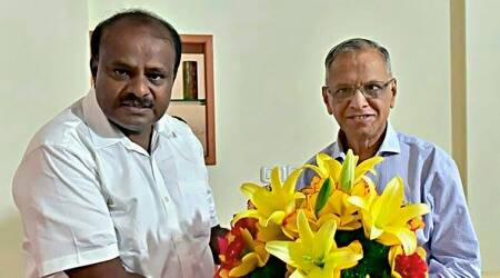 H D Kumaraswamy seeks Infosys co-founder N R Narayana Murthy's guidance
