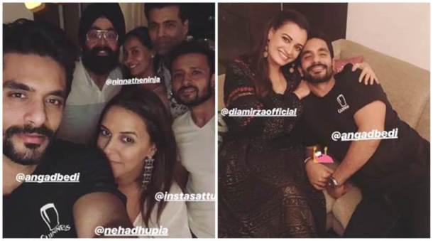 inside Neha Dhupia, Angad Bedi post-wedding house party