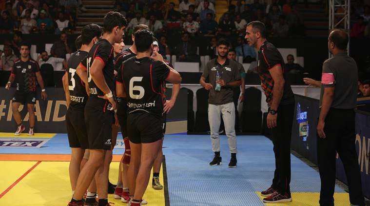kabaddi, asian games kabaddi, asian games iran, iran kabaddi, india kabaddi, Fazel Atrachali, Abozar Mighani, ajay thakur, sports news, indian express