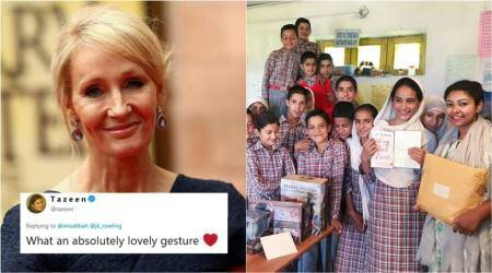 J K Rowling sends personalised notes and Harry Potter goodies to students of J&K school
