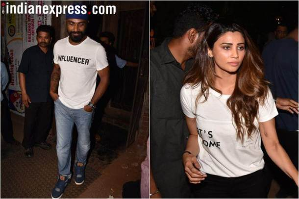 race 3 director remo dsouza and daisy shah at jacqueline party