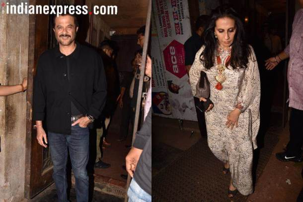 anil kapoor and sunita kapoor at jacqueline party
