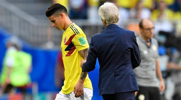 James Rodriguez injury latest: Colombia star set to be benched vs England