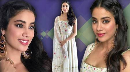 Dhadak song launch: Janhvi Kapoor embodies charm and grace in a floral printed white anarkali
