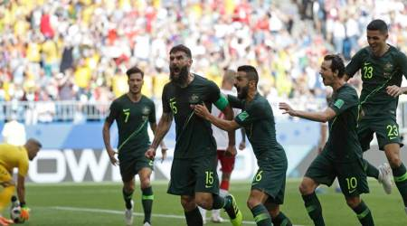 Australia get crucial 1-1 draw with Denmark at FIFA World Cup 2018
