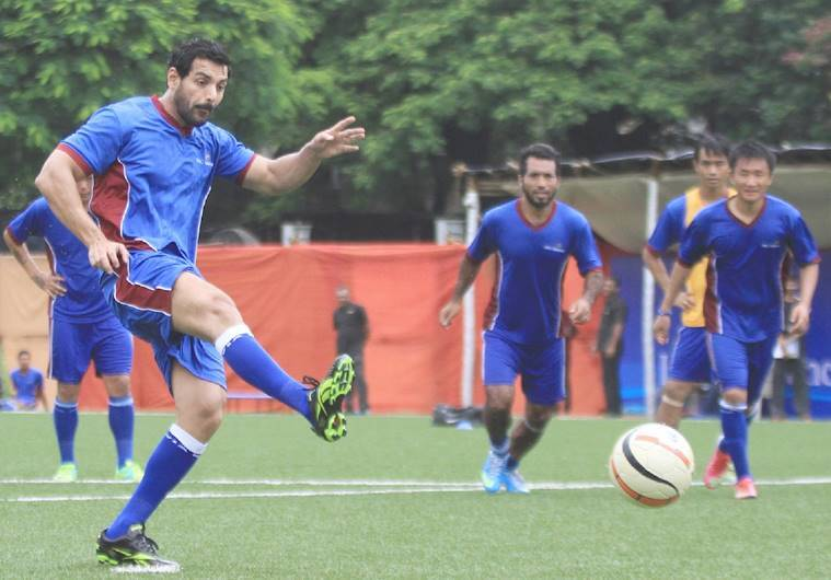 john abraham playing football