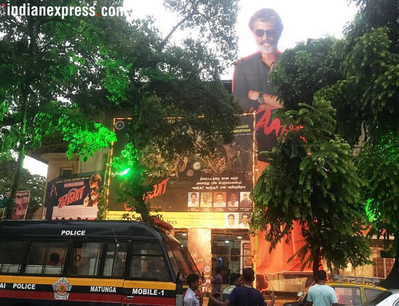 kaala posters outside theaters