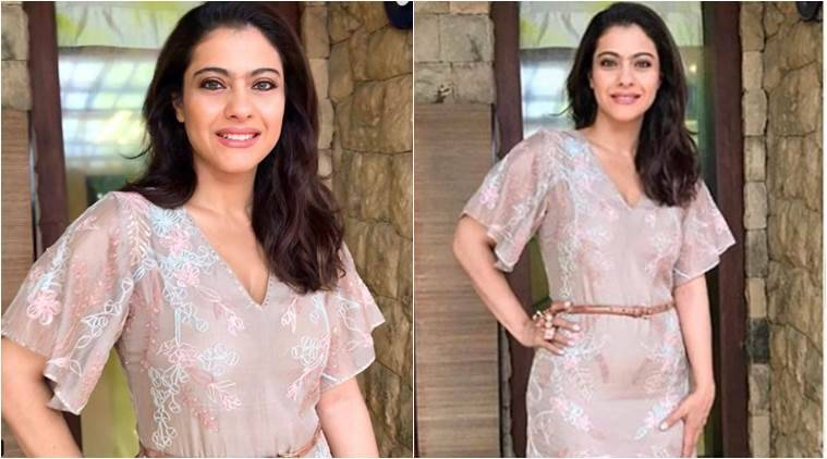 kajol, kajol anita dongre, kajol anita dongre sheer dress, indian express, indian express news