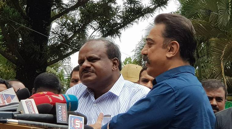 Kamal Haasan meets Karnataka CM Kumaraswamy, pitches for dialogue to resolve Cauvery water woes