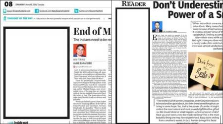 Shujaat Bukhari murder: Kashmir newspapers carry blank editorial to protest killing
