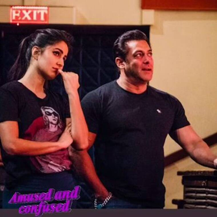 salman khan and katrina kaif at the dabangg tour