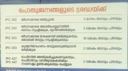 Powerless in the hand of FIFA fans, KSEB staff put up messages, posters warning against assault