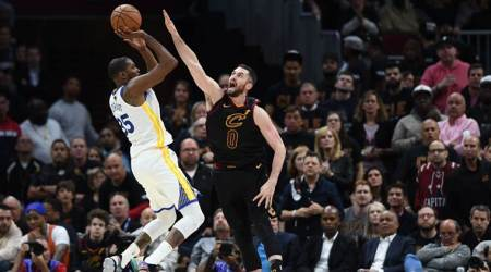 NBA Finals: Kevin Durant scores 43 as Warriors move within win of NBA Finals sweep