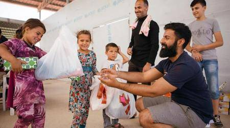 Spreading smiles, UK Sikh NGO gives Eid gifts to over 500 Syrian refugees
