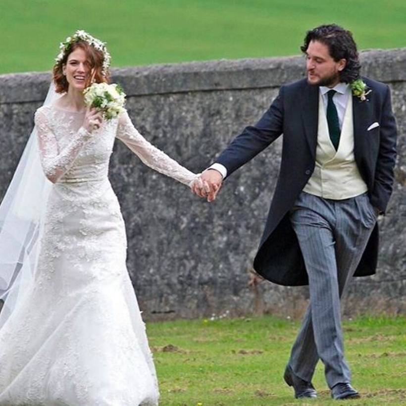 Inside Got Actors Kit Harington Rose Leslies Beautiful Wedding