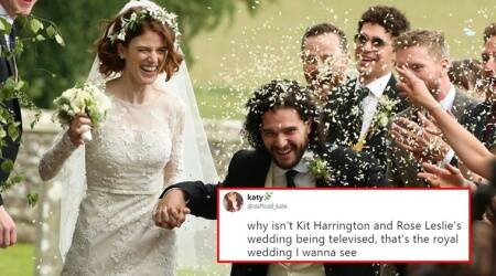 Kit Harington gets married to Rose Leslie; Netizens thank the 'fan in the bush' for sneak peeks