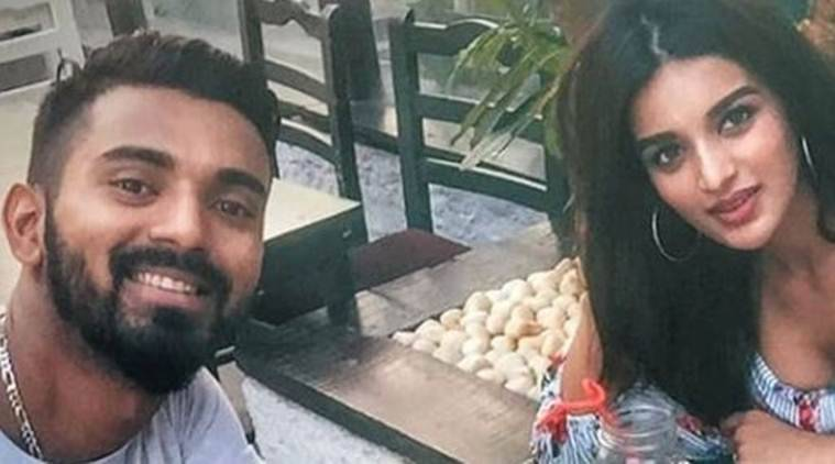 Indian cricketer KL Rahul with Nidhhi Agerwal