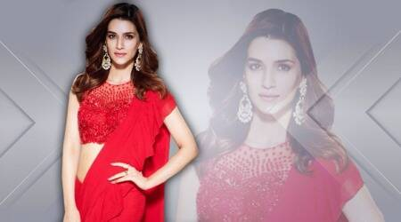 Kriti Sanon continues her love affair with ruffles with a striking red sari
