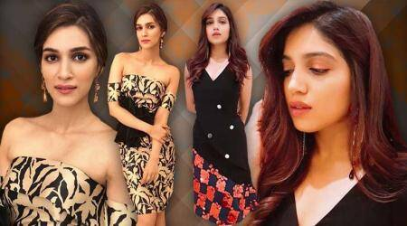Kriti Sanon and Bhumi Pednekar's midi-length dresses will give you party wear goals