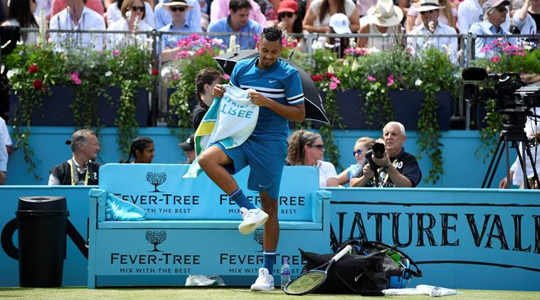 Australia's Nick Kyrgios during his semi final match against Croatia's Marin Cilic