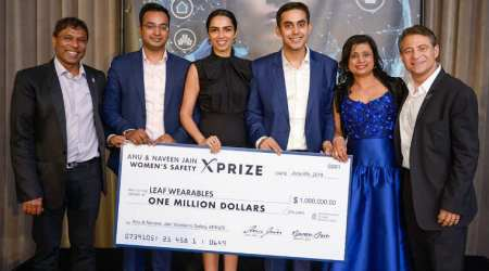 Indian entrepreneur team wins $1 million prize for women's safety device