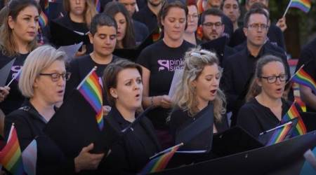 VIDEO: LGBT super choir sings outside UK parliament ahead of Brexit Bill votes