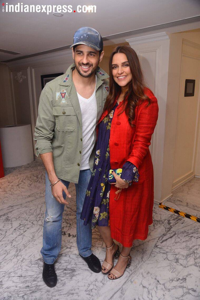 sidharth malhotra, neha dhupia at lust stories screening