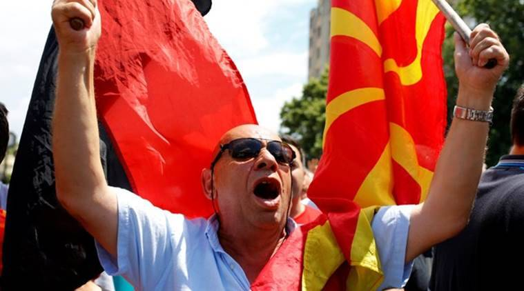 Greek neo-Nazi MP arrested over Macedonia row