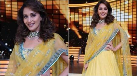 Madhuri Dixit is enchanting in a Tarun Tahiliani resham lehenga