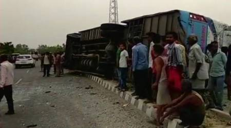 Uttar Pradesh: 17 killed, 24 injured as speeding bus overturns