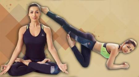 International Yoga Day 2018, Bollywood yoga, Malaika Arora, Malaika Arora yoga, Reebok yoga, Yoga poses to do, Yoga asanas to do, easy yoga asanas, Malaika Arora yoga asanas, indian express, indian express news