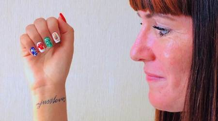 FIFA World Cup 2018: Manicures in World Cup designs hit the nail on thehead