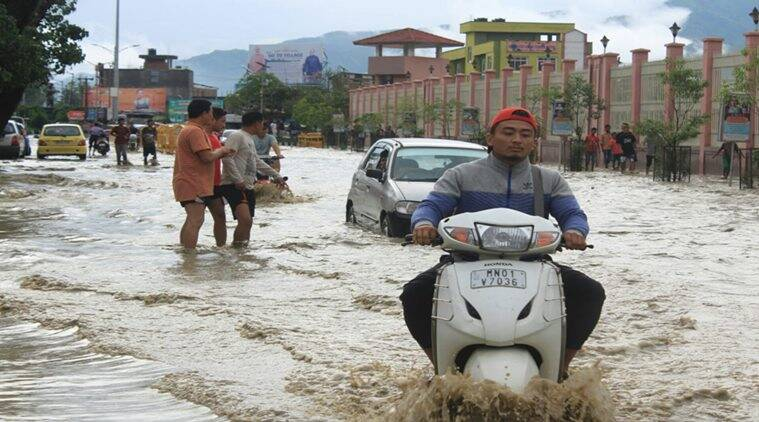 Situation aggravates in Manipur as rains continue for the third day