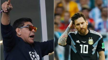 FIFA World Cup 2018: Diego Maradona says Lionel Messi not at fault for Argentina's draw